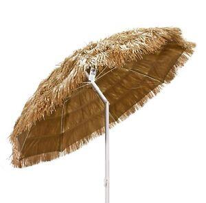 Ombrelloni In Paglia Da Giardino.Ombrellone Paglia Mare Spiaggia Tropicale Hawaii In Rafia Sintetica 180 Cm Ecru Ebay