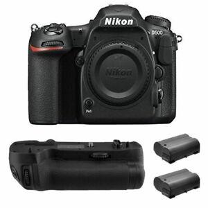 Nikon D500 DSLR Camera 20.9MP DX-Format Body +2x xtra Battery + Grip Pro Kit New