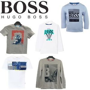 HUGO-BOSS-Boys-Kids-Real-Genuine-Top-T-Shirt-Short-Full-Sleeve-Crew-Neck-Clothes