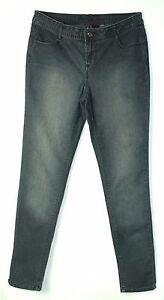 Thin-Faded-BLACK-Low-Rise-Skinny-Leg-BISOU-BISOU-Stretch-Jeans-6