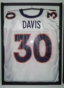 Image is loading JERSEY-Display-Case-Frame-White-with-Hanger-Football- 7cdced6f8