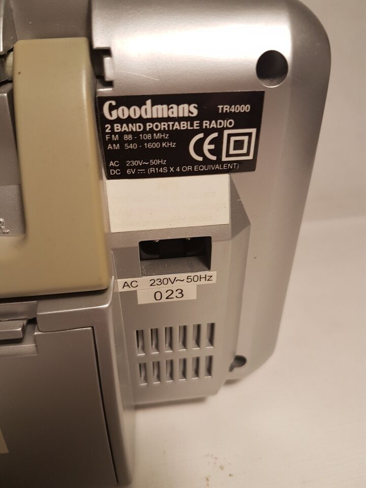 AM/FM radio, Goodmans, Tr4000