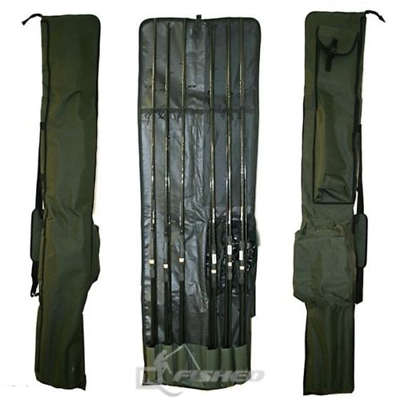 Large Fishing Bag And Carp Rod /& Reel Holdall For 3 Rods 100