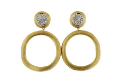 Marco Bicego Jaipur Diamond Drop Link Earrings - 18k Gold  .29ctw