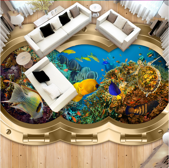 3D Fish sea reef 012 Floor WallPaper Murals Wall Print Decal 5D AJ WALLPAPER