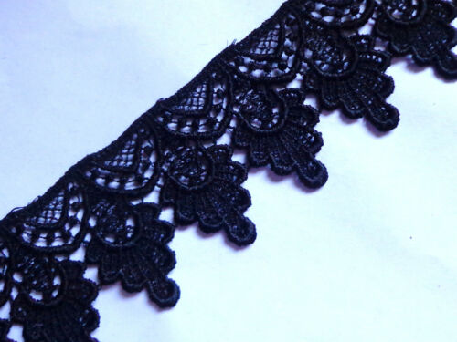 1+3//4 inch width-black Venise Lace trim selling by the yard