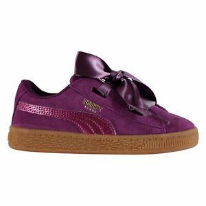 Scarpe Puma suede heart trainers Sneaker Bambina Viola Dark
