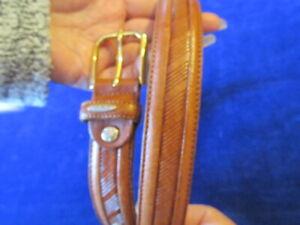 Original-GP-amp-Max-Italian-Leather-Belt-Brown-attractive-Pattern-J7