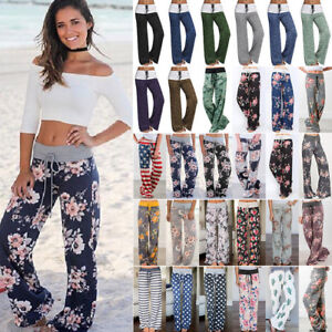Womens-Plus-Size-Loose-Floral-Yoga-Palazzo-Trousers-Casual-Wide-Leg-Long-Pants