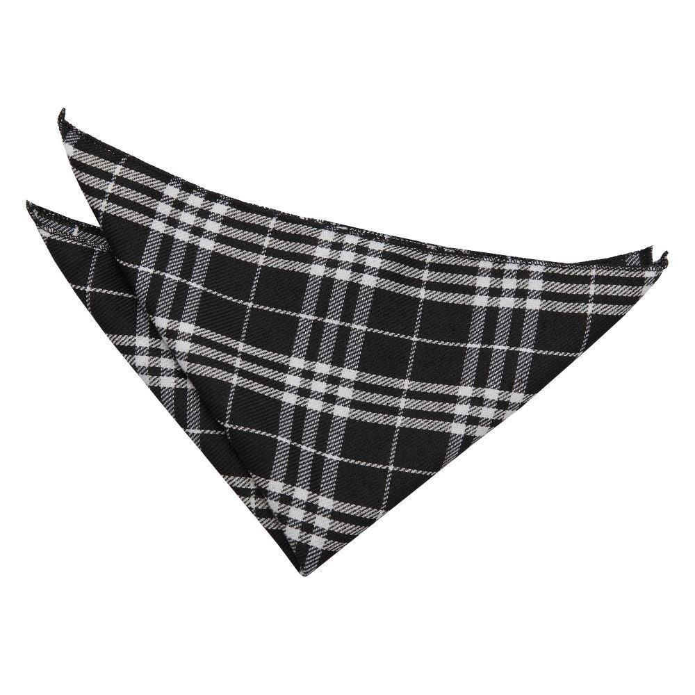 Tartan Handkerchief- black-white