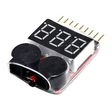 Qualität 1 s-8s LiPo Battery Monitor Indikator Checker Spannungsprüfer für RC