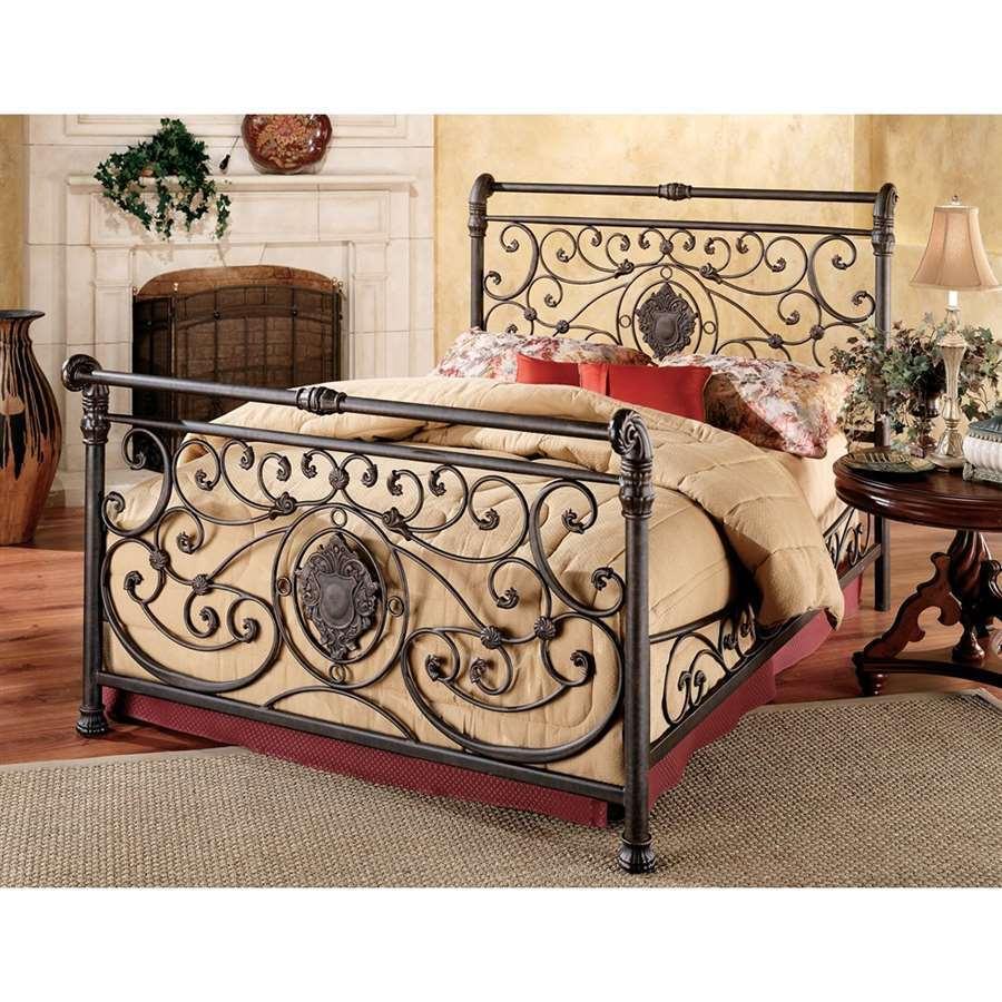 Hillsdale Furniture Mercer Bed Set, King, w/Rails, Antique Brown - 13BKR
