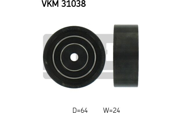 SKF Polea inversión/guía, correa poli V VOLKSWAGEN PASSAT AUDI A4 A6 VKM 31038