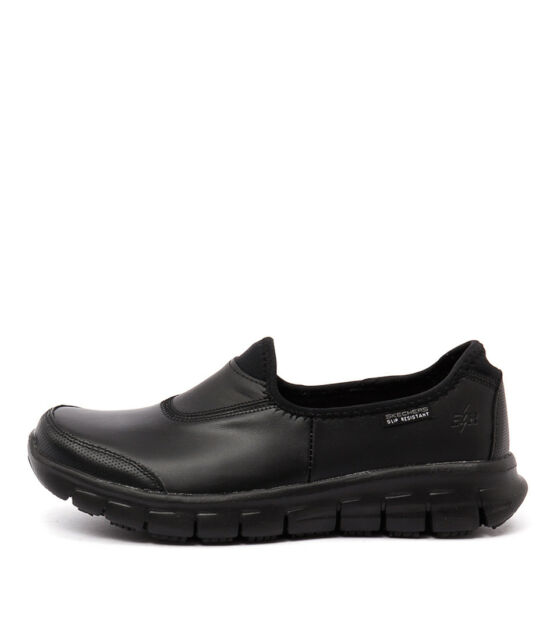 New Skechers 76536 Sure Track Black Black Womens Shoes Active Sneakers Active