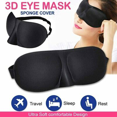 3D Soft Padded Sponge Eye Mask Blinder Shade Blindfold Rest Aid For Travel Sleep