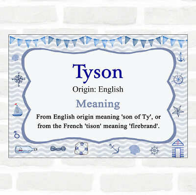 Adattabile Tyson Nome Significato Nautico Certificato-