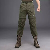Men's Fast Drying Long Pants Hiking Two In One Removable Shorts Trousers