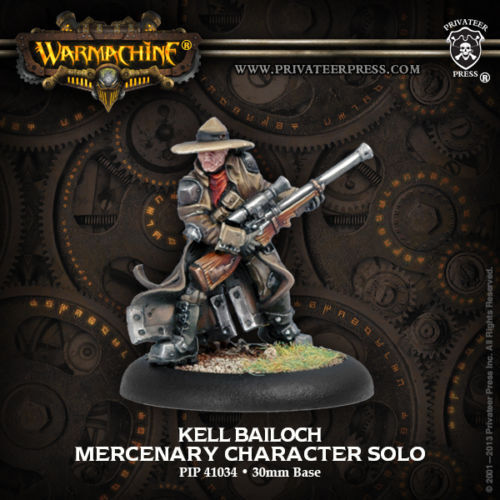 Privateer Press PIP41034 Warmachine-Mercenary Kell Bailoch Model Kit