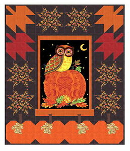 FOREST FANCY QUILT KIT - Pattern + Moda Fabric by Deb Stain / Owls ... : fall quilt - Adamdwight.com