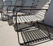 Vintage Brown Jordan Lido chairs original mid century modern patio furniture