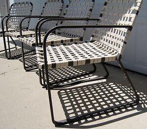 Image Is Loading Vintage Brown Jordan Lido Chairs Original Mid Century