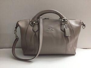 82fa7a2226 Image is loading sale-Authentic-COACH-58410-Colette-Leather-Satchel-Shoulder -