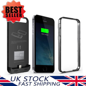 low priced 15c2b cee62 Details about iFans® Apple MFi Certified For iPhone SE/5S/5 Slim Battery  Charger with 2400mAh