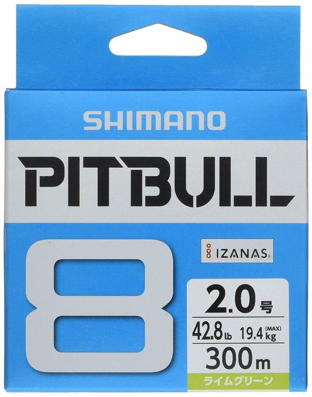 Shimano Pitbull X8 Lime Green 300m   Braided PE Line 22.4lb (10.2kg) 1  cheap and high quality