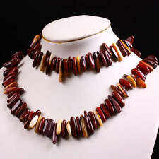 "Mookaite Gemstone Gem Chips Loose Link Beads For Choker Necklace 15.5""L 1 Strand"
