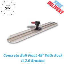 Concrete Bull Float 48 With Rock It 20 Bracket