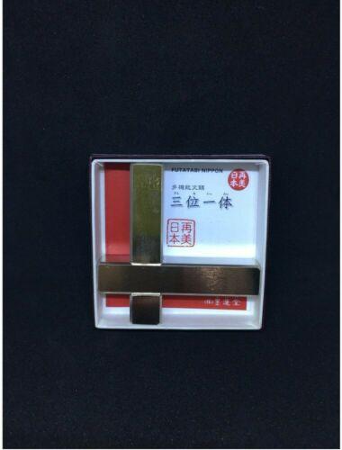 Bokuundo Trinity Bunchin Three Purposes 2psc Set Calligraphy Paper Weight Japan