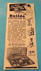 BUILDO-CONSTRUCTION-SET-Original-Product-Ad-2-034-x-6-034-1947-KID-039-S-TOY