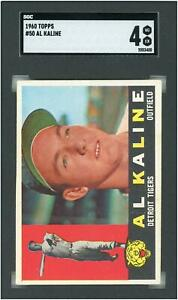 Al Kaline Detroit Tigers 1960 Topps #50 SGC 4 Card Topps