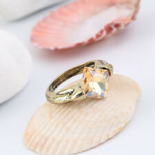 New Fashion Cool Horcruxes Resurrection Stone Retro Bronze Crystal Ring QT