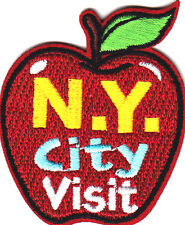 """""""N.Y. CITY VISIT"""" -  Iron On Embroidered Patch - VACATION - SCHOOL - TRIP"""
