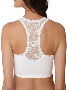 Plus size 18 20 SLEEP BRA /Night nursing bra white cotton pull on ...