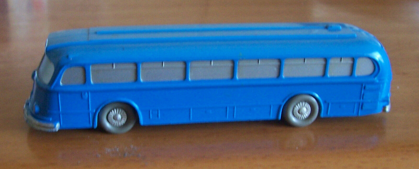 Wiking Germania vintage 1950s Bus blu smaltato HO in plastica