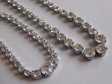 Spectacular Vintage Graduated Diamante Necklace & Bracelet Set or Demi Parure