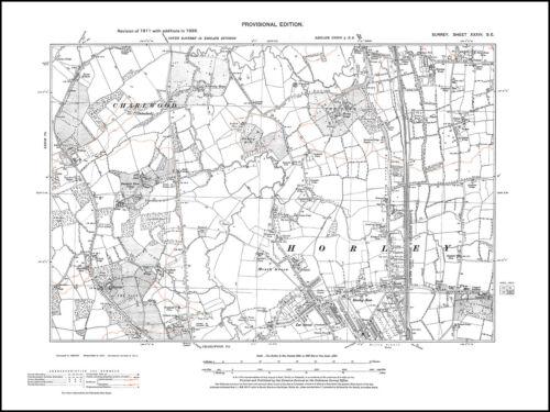 old map Surrey 34-SE Horley Row Meath Green in 1938 Lee Street