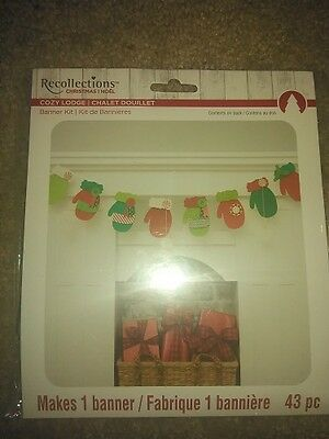 #1458 Recollections Christmas Bows Noel Cozy Lodge