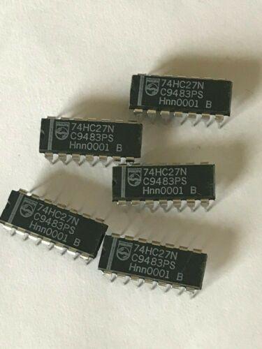 Gates 74HC27N 14 pin dip made by Philips 5pcs 3.95 HU648