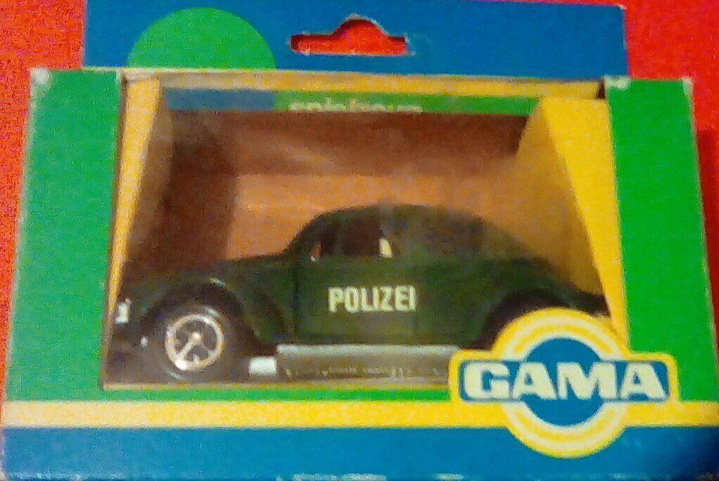RARE GAMA Maggiolino VW Dealer 1302 POLIZEI POLIZIA MADE IN GERMANY 1970 Nuovo di zecca con scatola