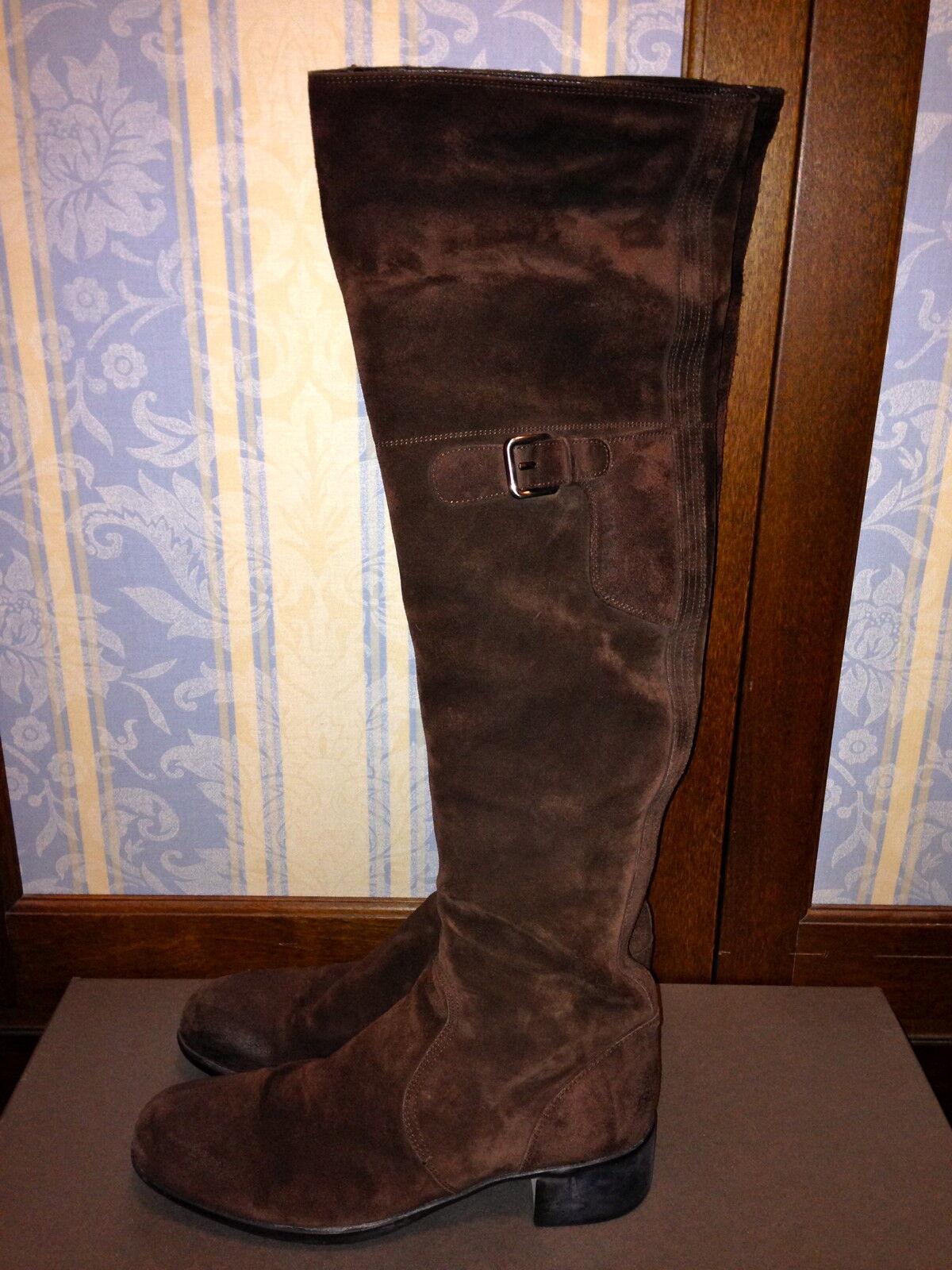 Prada camoscio stivali di camoscio Prada colore marrone Tg.39,5 ORIGINALI! 0ddc4d