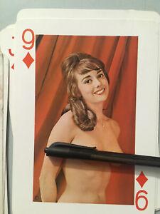 Grand Jeu De 54 Carte Erotique Vintage 20cm Pin-up Adulte