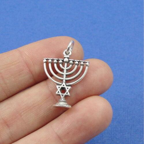 Hanukkah Menorah cuff links STERLING SILVER PLATED Chanukah symbol