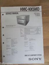 Schema SONY - Service Manual Mini Hifi Component System HMC-NX5MD HMCNX5MD