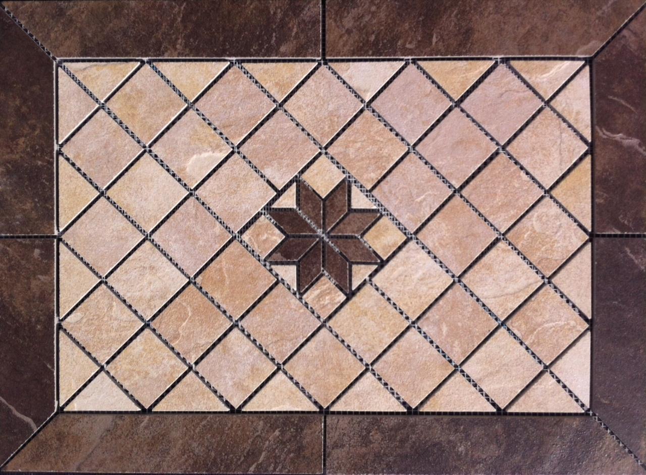 21 3 4 X 15 3 4  Tile Medallion -Daltile Continental Slate tile