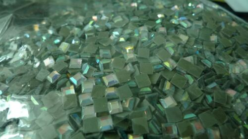 Square Stone 4mm Glass Material Rhinestone 1gr//144pc Rhinestone Hot Fix Iron on