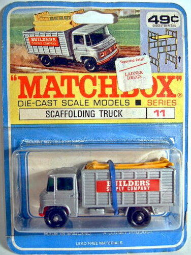 Matchbox RW 11d scaffolding Truck rare canadische blister
