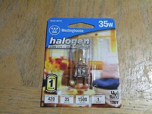 Case of 6 2-Pin Quartz Halogen Bulbs,35W,120V Westinghouse 04712